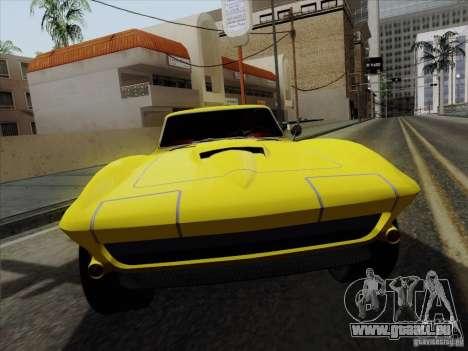 Chevrolet Corvette 1967 für GTA San Andreas rechten Ansicht