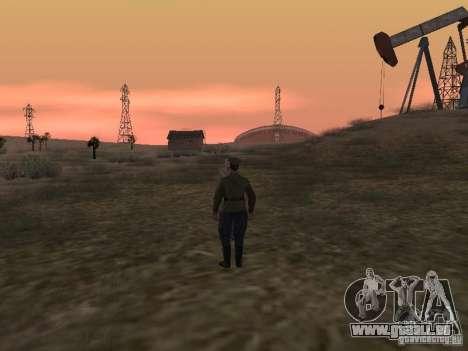 Officier soviétique BOB pour GTA San Andreas cinquième écran