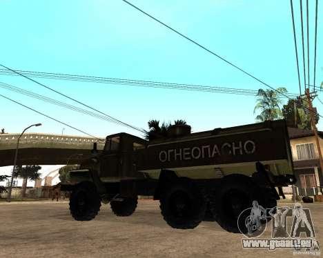 Ural 4320 camion pour GTA San Andreas sur la vue arrière gauche