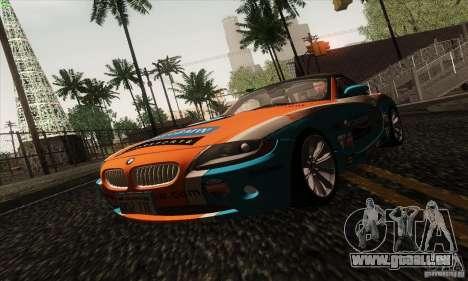 BMW Z4 für GTA San Andreas Unteransicht