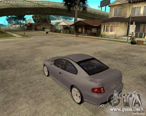 2005 Pontiac GTO pour GTA San Andreas laissé vue
