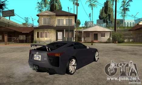 Lexus LFA 2010 v2 pour GTA San Andreas vue de droite