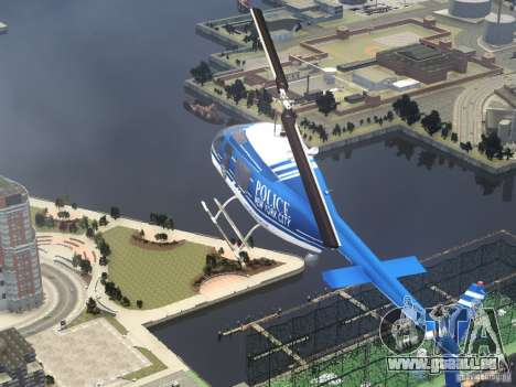 Bell 206 B - NYPD pour GTA 4 vue de dessus