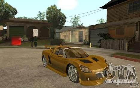 Opel Speedster für GTA San Andreas Rückansicht