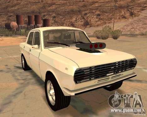 GAZ Volga 2410 Hot Road für GTA San Andreas obere Ansicht