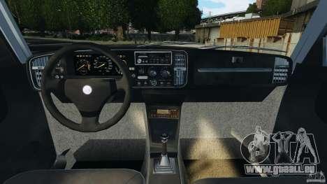 Saab 900 Coupe Turbo pour GTA 4 Vue arrière