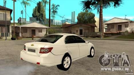 Chevrolet Epica 2008 pour GTA San Andreas vue de droite
