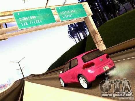 Volkswagen Golf R 2010 für GTA San Andreas rechten Ansicht