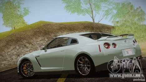 Nissan GTR Black Edition für GTA San Andreas Rückansicht