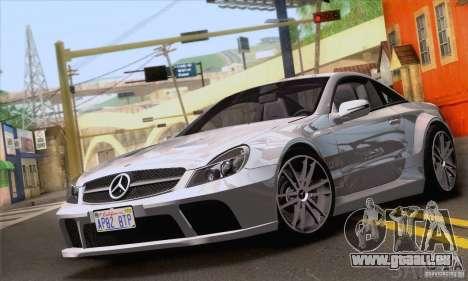 Mercedes-Benz SL65 AMG Black Series pour GTA San Andreas vue de dessus