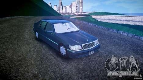 Mercedes Benz SL600 W140 1998 higher Performance für GTA 4 rechte Ansicht