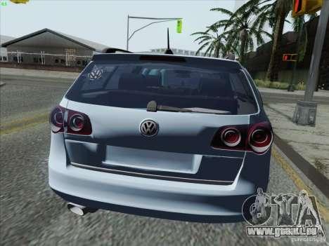 Volkswagen Passat B6 Variant Stance 2007 pour GTA San Andreas sur la vue arrière gauche