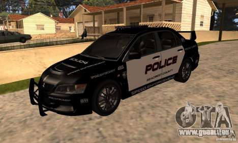Mitsubishi Lancer Evo VIII MR Police für GTA San Andreas