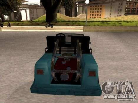 Small Cabrio pour GTA San Andreas vue de droite
