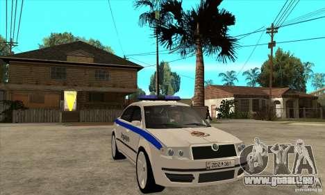 Skoda SuperB GEO Police pour GTA San Andreas vue arrière