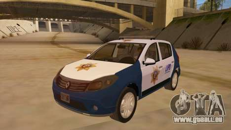 Renault Sandero Police LV pour GTA San Andreas