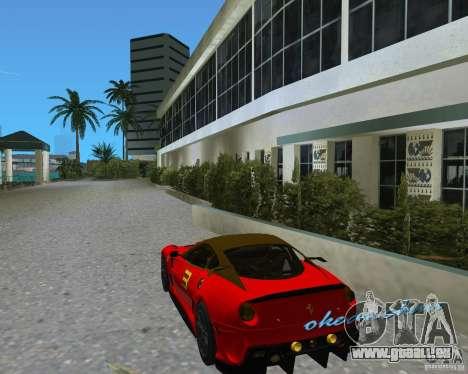 Ferrari 599 GTO pour une vue GTA Vice City de la droite