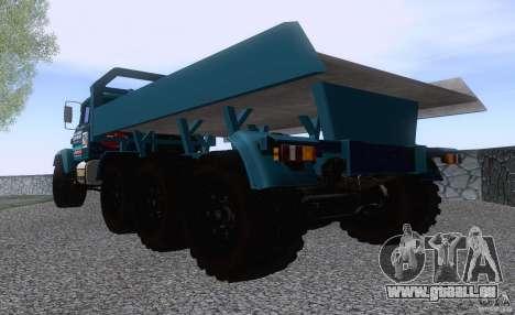 KrAZ 7140H essai 6 pour GTA San Andreas sur la vue arrière gauche