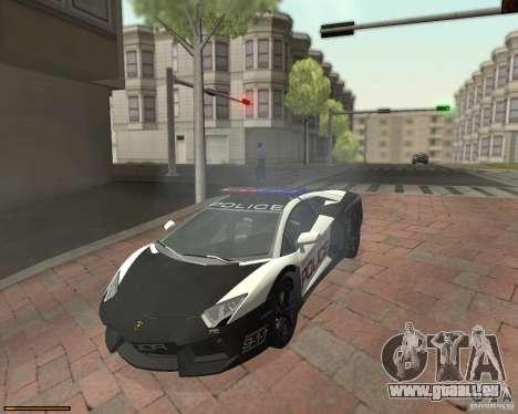 Lamborghini Aventador LP700-4 Police für GTA San Andreas