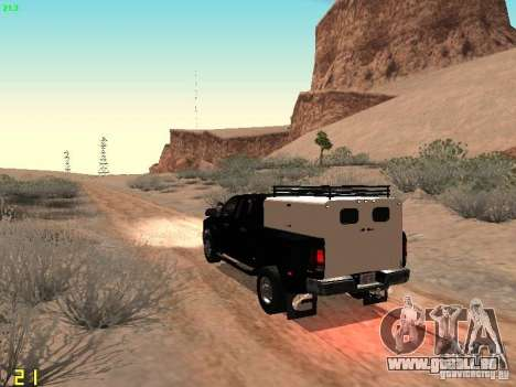 Dodge Ram 3500 Unmarked pour GTA San Andreas sur la vue arrière gauche