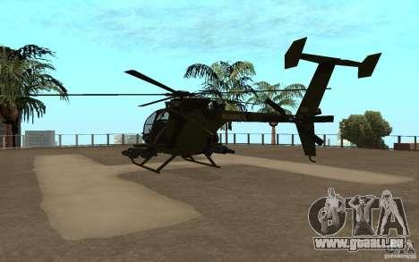 AH 6 pour GTA San Andreas vue de droite