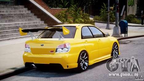 Subaru Impreza STI pour GTA 4 est un côté
