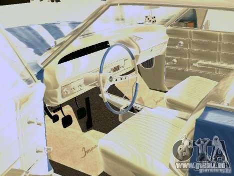 Chevrolet Impala 4 Door Hardtop 1963 pour GTA San Andreas vue arrière