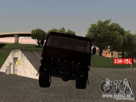 Défilé de KAMAZ 4310 pour GTA San Andreas sur la vue arrière gauche