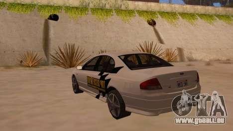 Ford Falcon XR8 2008 Tunable V1.0 pour GTA San Andreas sur la vue arrière gauche