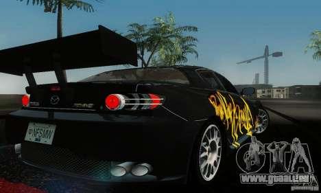 Mazda RX-8 Tuneable pour GTA San Andreas sur la vue arrière gauche