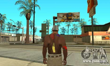 Tatouage cool à CJ-j'ai sur le corps pour GTA San Andreas quatrième écran