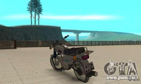 Sunrise 3 m-01 pour GTA San Andreas sur la vue arrière gauche