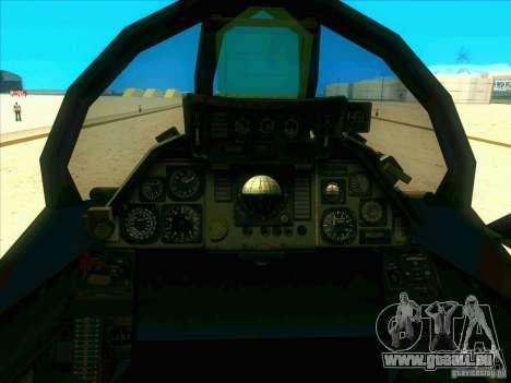 F-14 Tomcat Schnee für GTA San Andreas Seitenansicht
