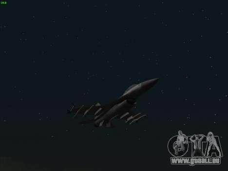 F-16C Warwolf für GTA San Andreas Rückansicht