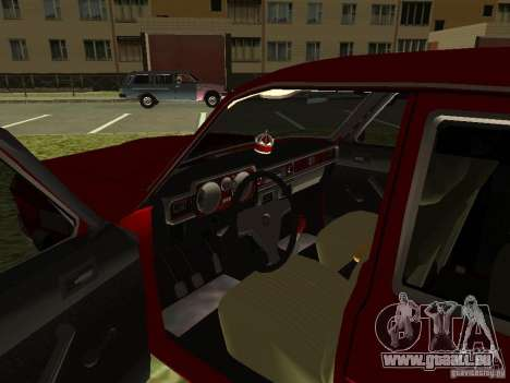 Volga GAZ 24-10 pour GTA San Andreas vue intérieure