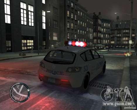 Mazda 3 Police pour GTA 4 est une gauche