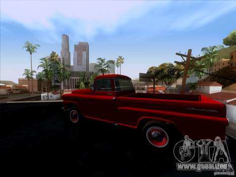 Chevrolet Apache GM 1959 pour GTA San Andreas laissé vue