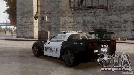 Chevrolet Corvette LCPD Pursuit Unit pour GTA 4 est un côté