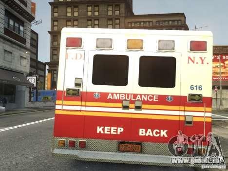 Ford F-350 Ambulance FDNY pour GTA 4 Vue arrière de la gauche