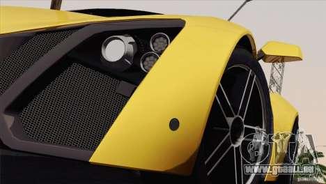 Marussia B2 2010 für GTA San Andreas Seitenansicht