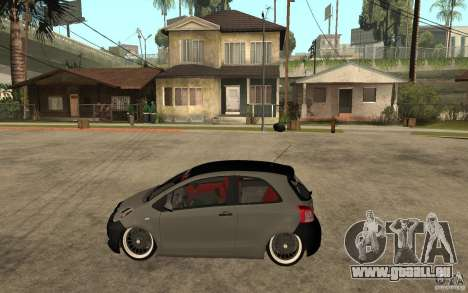 Toyota Yaris II Custom pour GTA San Andreas laissé vue