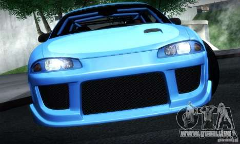 Mitsubishi Eclipse GSX 1999 pour GTA San Andreas sur la vue arrière gauche