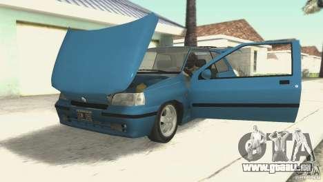 Renault Clio RL 1996 pour GTA San Andreas vue arrière