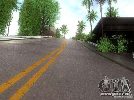 Modification Of The Road pour GTA San Andreas troisième écran