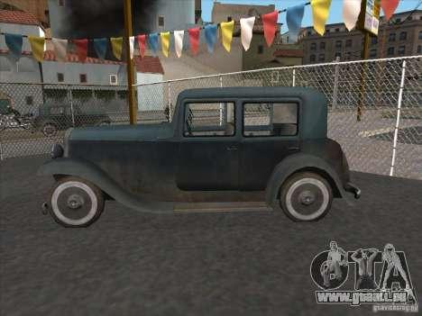Le véhicule de la seconde guerre mondiale pour GTA San Andreas laissé vue