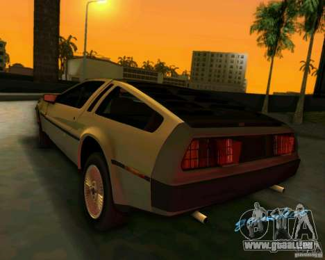 DeLorean DMC-12 V8 für GTA Vice City Rückansicht