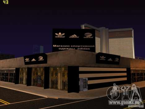 Vollständiger Ersatz der Binco Store Adidas für GTA San Andreas zehnten Screenshot