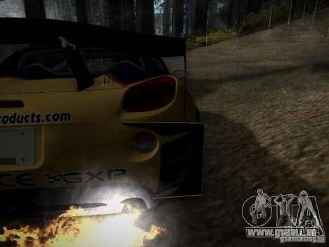 Pontiac Solstice Redbull Drift v2 pour GTA San Andreas vue intérieure