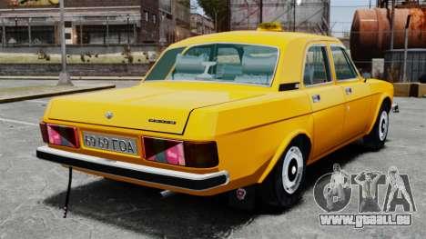 Taxi gaz-3102 pour GTA 4 Vue arrière de la gauche
