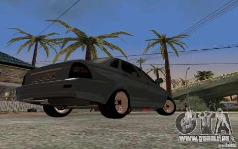 LADA Priora leichte tuning für GTA San Andreas Rückansicht